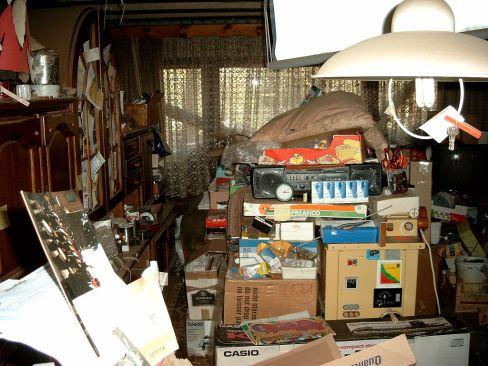 A hoarder's apartment